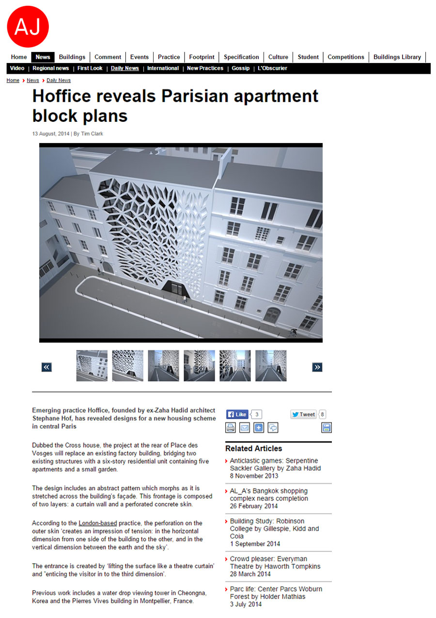 Architectural Journal – London based studio